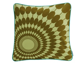 Pillow cover SUNNYDAY, green/olive, 50 x 50 cm (without filling)