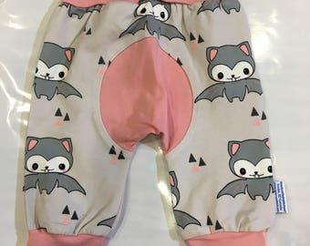 Pink Bats Organic Cotton Grow Along With Me Pants