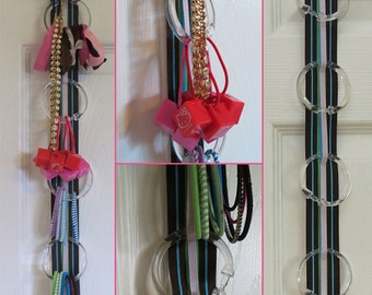 Hanging Hairtie & Baby Headband Organizer with Elastic - 342 color combinations