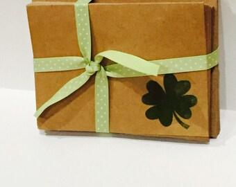 Four leaf clover notecards