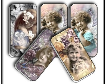 Watercolor Angels - 24 Domino Images - 2 groups of 12 - Angels. Subtle soft colors, Composite is an original SDR Design