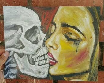 Dia de los muertos art - Chicano art - Day of the dead art - mexican art - home decor - 8.5x11 print