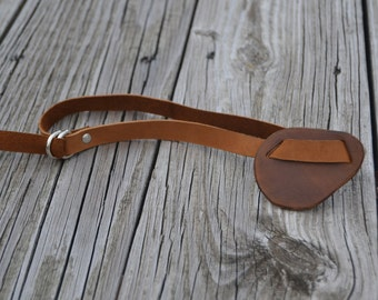 Leather eye patch