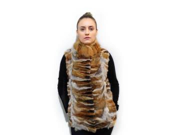 Real Fur Fox Vest,Canadian Fox Vest F705