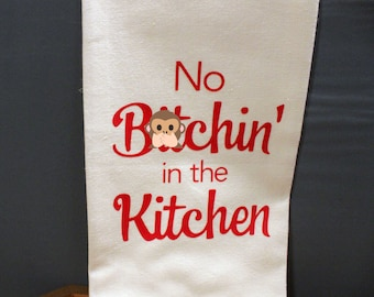 No B**chin' in the Kitchen Tea Towel - Red
