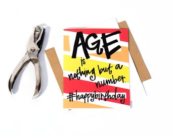 Greeting Card: Age Number (Birthday)