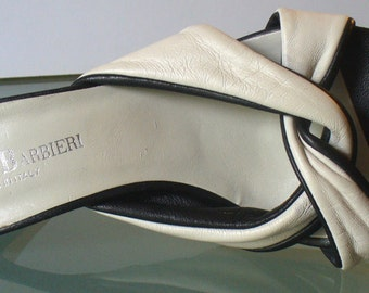 Franco Barbieri Made in Italy Black & White Mules