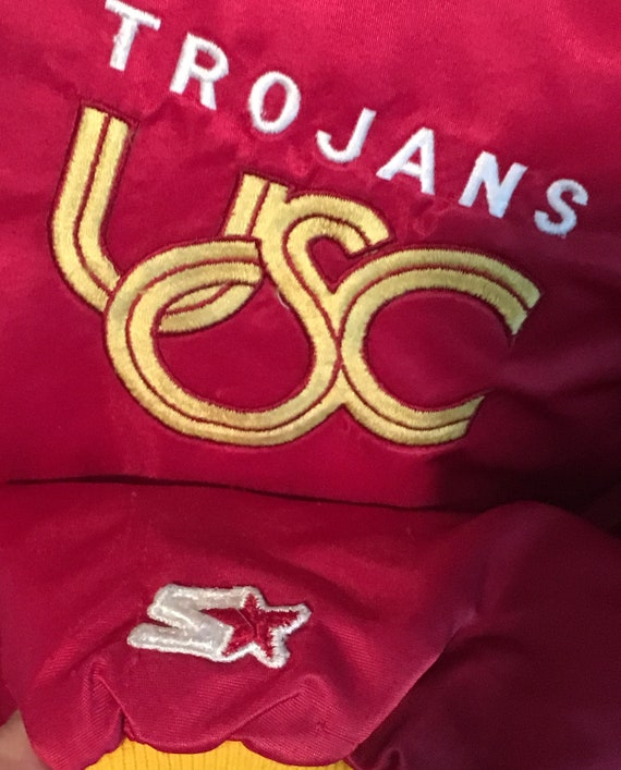 Starter Football California 1980s USC Varsity XL College of 10 University Jacket Southern Vintage Basketball Pac Trojans jacket tx48q7wY