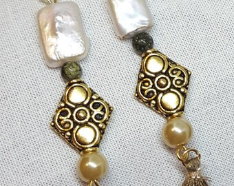 Pearl Jewelry, Mother of Pearl, Pearl Earrings, Glossy Pearl Jewelry, Hypoallergenic nickel free jewelry, Gifts for her