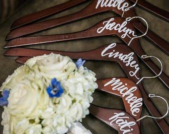 Handwritten Wooden Hangers