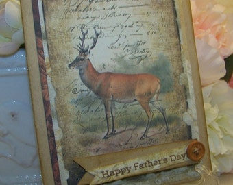 Birthday Card for Men Father's Day Card Birthday Card for Men Customizeable All Occasion Vintage Style Cards for Men