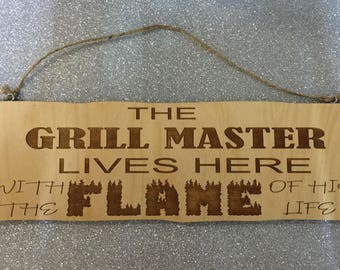 Wooden Grill Master Sign