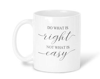 Advice Mug Coffee Mug Advice Tea Mug Advice Travel Mug Advice Gift Mug Inspirational Mug Gray White Mug lesson