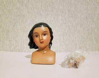 Vintage Mangelsen's porcelain angel doll parts, dark skin doll  kit 161-07