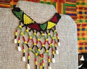 Massai Beaded Choker Necklace