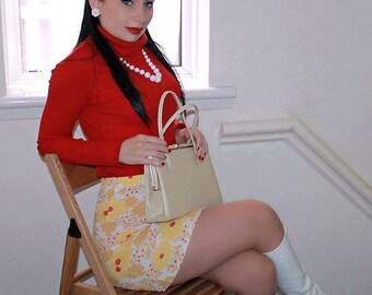 60s/70s stretchy Mini skirt