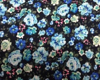 Liverpool Knit - Black Floral