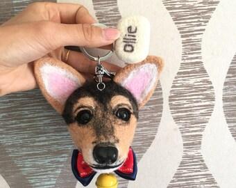 Custom Made - Lifelike Needle Felted Pet KeyChain