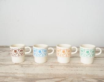 Vintage Floral Mugs USA