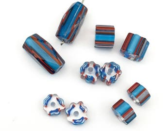 10 furnace glass beads,10mm to 20mm # PV004