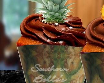 Edible Pineapple Cake Decoration ED145JPW-edible Pineapple skin sheet cake-edible pineapple cake, cookie topper-edible printed cake topper