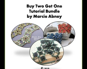Buy 2 Get 1 FREE Bracelets - Beadweaving Tutorial Bundle
