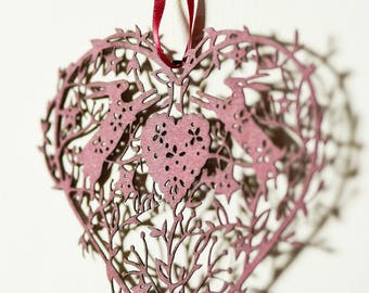 Heart lasercut hanging decal