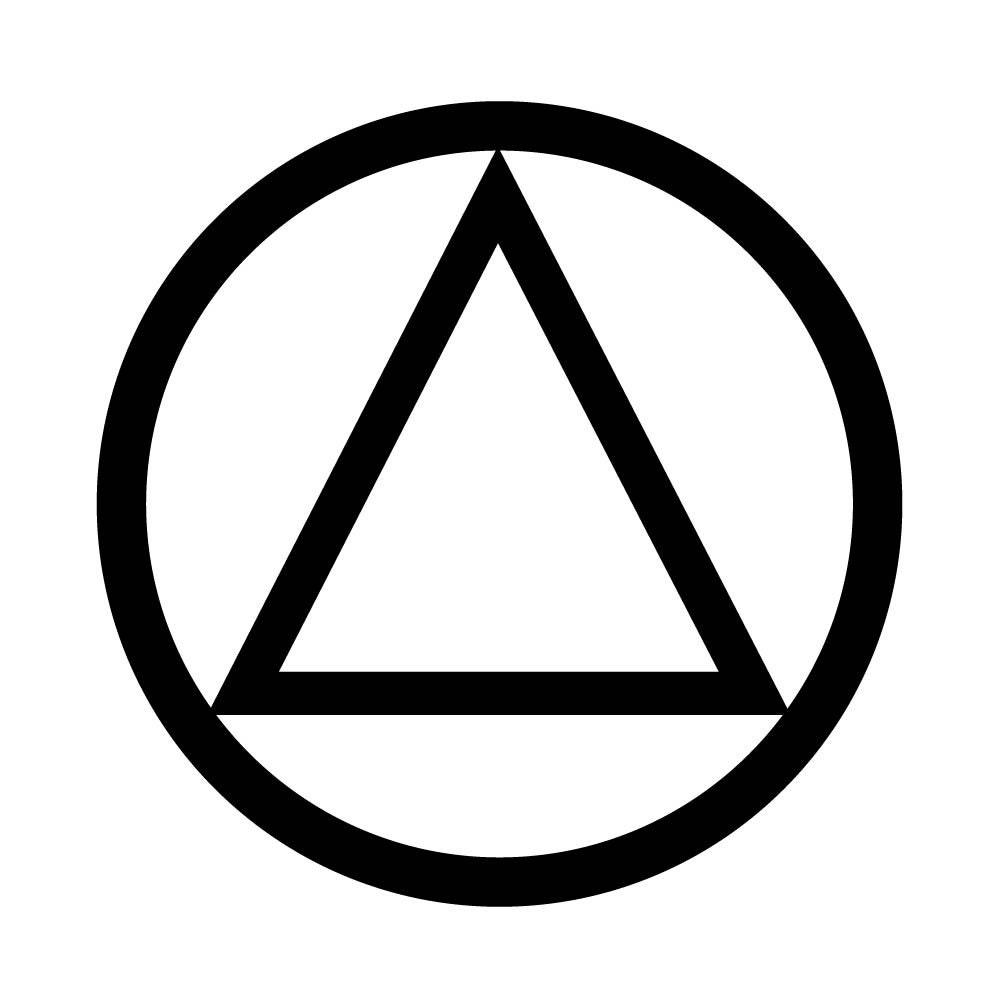 Aa sobriety circle and triangle temporary tattoo recovery zoom buycottarizona