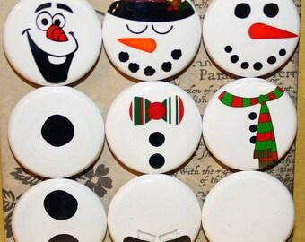 Snowmen Magnets one inch
