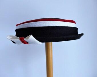 Vintage 1950's Short Pill Box Hat