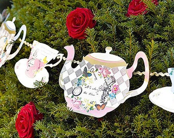 Alice in Wonderland Theme Baby Shower; Alice in Wonderland Birthday; Truly Alice Decorations; Banners/Decorations; Mad Hatter Tea Party deco