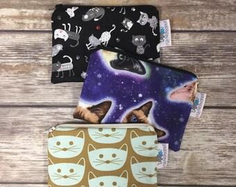 Reusable Snack Bag, Reusable Zipper Bag, Reusable Sandwich Bag, Zipper Pouch, Reusable, Cat Snack Bag, Lunch Bag, Reusable Bag, Rocket Cat