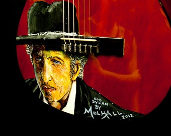 Bob Dylan Guitar by William Mulhall