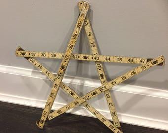 Vintage Folding Ruler / meauring tape Star, 6 feet