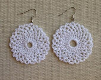Lace Circle Earring Design - Instant download Crochet PATTERN (pdf file) – Jewelry - Crochet Earing Design #9 Pattern