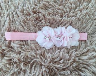 Baby girl headbands, pink headband ,pink flower headband, baby headband, hair accessories,baby hair accessories