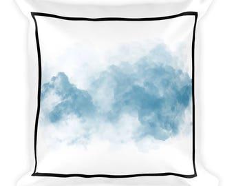 Blue Statement Clouds Pillow