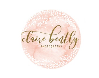 Confetti Circle Logo - Premade Photography Logo and Watermark Design - Watercolor Logo - Photography or Boutique Logo  - Business Branding
