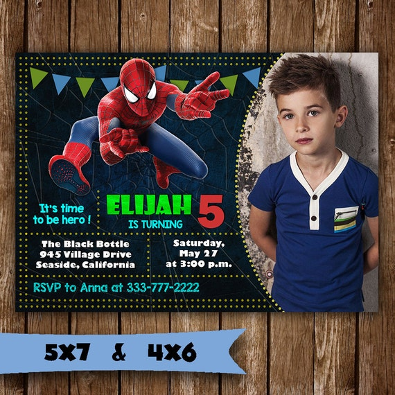 Spiderman invitation spiderman birthday invitation spider man solutioingenieria Gallery