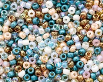 8/0 Miyuki Ocean Breeze Seed Bead Mix - 15 grams - Miyuki Ocean Breeze 8/0 Mix - Exclusive Mix From SupplyEmporium, 4555