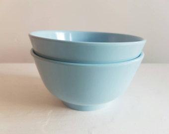 Pastel Blue Melamine Bowls - Hoover - 4135 - Sweet