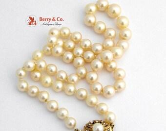 SaLe! sALe! Vintage Pearl Strand Necklace 14 K Gold