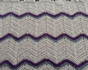 Crochet baby blanket, beautiful colors. Hand made one of a kind.