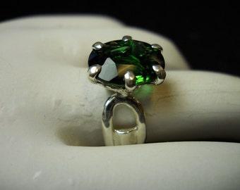 Green Tourmaline Gemstone Ring