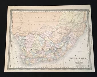 Vintage south africa map Etsy