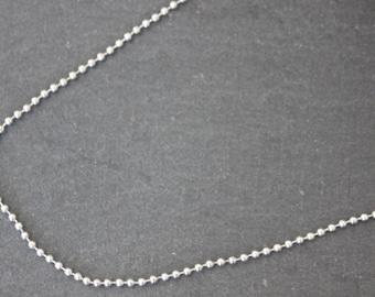 Sold per metre diameter 2 mm silver ball chain