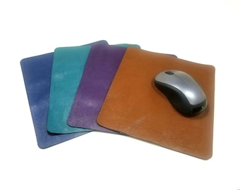 Premium Leather Mouse Pad, Blue Leather Mouse Pad, Turquoise Leather Mouse Pad, Purple Leather Mouse Pad,Tan Leather Mouse Pad, Computer Pad