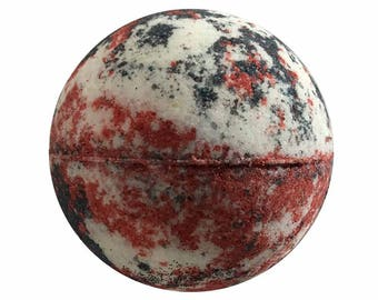 Berries & Cream Bath Bomb, Bath Fizzy, Handmade Spa Product, Epsom Salts, Hydrating Coconut Oil, Sensitive Skin, Great Gift for Her