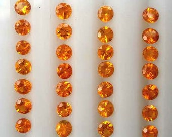 Spessartite Garnet from Namibia - 3.5mm Round - ATTENTION JEWELERS!