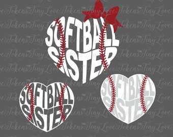Softball Sister Design for Silhouette and other craft cutters (.svg/.dxf/.eps/.pdf)